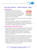 Rak vrata maternice - Ključne činjenice i brojke