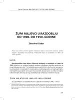 ŽUPA MILJEVCI U RAZDOBLJU OD 1900. DO 1950. GODINE