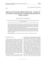 Dragutin Mayer and Božo Metzger: Leaders in Radiation Science
