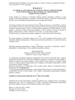 Poziv za predlaganje programa sufinanciranja