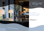 The Regent Esplanade Zagreb Hotel magazine The Regent