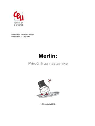 2. Prijava u sustav - Merlin