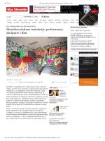 Muralima dodane instalacije, performansi, skulpture