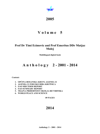 A nthology 2 - 2001 - 2014 - Institute for Climate Change