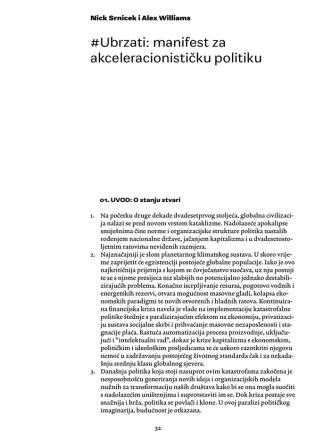#Ubrzati: manifest za akceleracionističku politiku