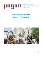 PROGRAM RADA 2014. GODINA