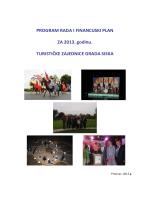 PROGRAM RADA I FINANCIJSKI PLAN ZA 2013. godinu
