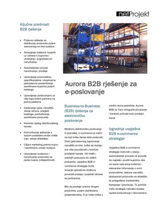 Aurora B2B rješenje za e-poslovanje