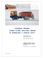 izvedbeni program zimske službe 2014/2015 godina za županijske i