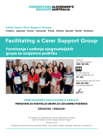 Facilitating a Carer Support Group