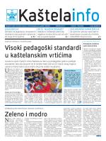 Zeleno i modro Visoki pedagoški standardi u