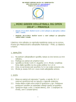 """ MINI GREEN VOLLEYBALL RG OPEN 2014"".– PRAVILA"