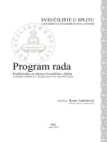 Program rada - Studentski Centar Split