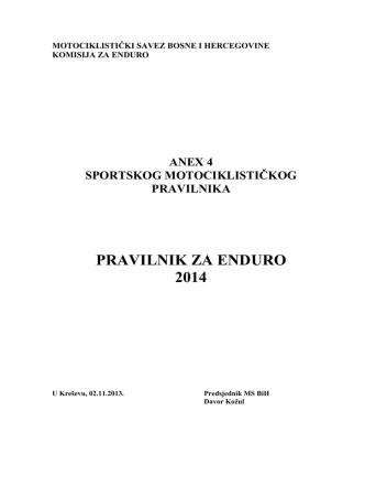 Anex 4 - MS BiH | Motociklistički savez Bosne i Hercegovine