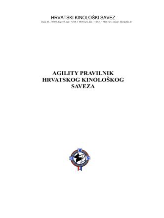 Agility pravilnik - Povjerenstvo za agility