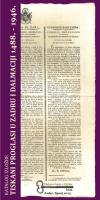 tiskani proglasi u zadru i dalmaciji 1488. - 1946.