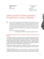Zaštita predmeta Zbirke glazbala u Etnografskom muzeju u Zagrebu