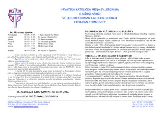 29 Rujan 2013 - St Jerome Croatian Catholic Church