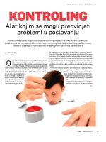 """""""Kontroling - alat kojim se mogu predvidjeti problemi u"""