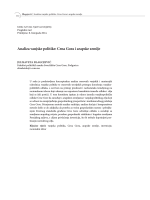 Analiza vanjske politike: Crna Gora i arapske zemlje