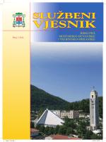 Službeni vjesnik, 1/2011. - Biskupije Mostar-Duvno i Trebinje