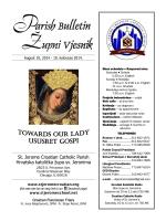 Parish Bulletin - Župni vjesnik - St. Jerome