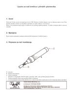 Upute za rad lemilica i plinskih plamenika