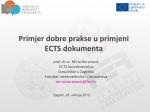 Primjer dobre prakse u primjeni ECTS dokumenta