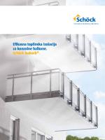 Efikasna toplinska izolacija za konzolne balkone. Schöck