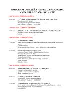 program obilježavanja dana grada knin i blagdana sv