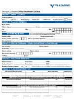 Zahtjev za financiranje PRAVNIH OSOBA (PDF)