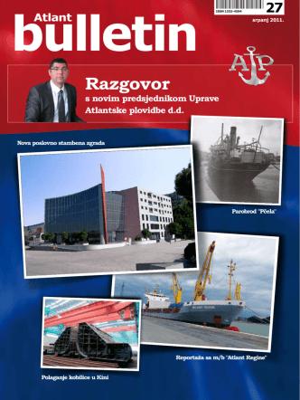 Atlant bulletin br. 27 - Atlantska plovidba dd Dubrovnik