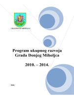 Program ukupnog razvoja Grada Donjeg Miholjca 2010.