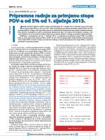 Pripremne radnje za primjenu stope PDV