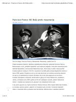 Francisco Franco: Bič Božji protiv masonerije