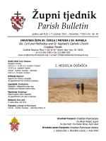 Župni tjednik 7. prosinac 2014.