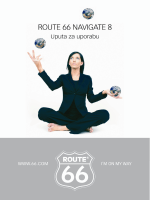 ROUTE 66 Navigate 8 Uputa za uporabu 1