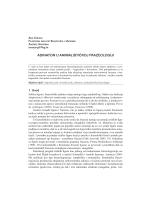 ADINATON U ANIMALISTIČKOJ FRAZEOLOGIJI