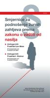 Smjernice za podnošenje žurnih zahtjeva prema zakonu o zaštiti od