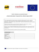 Prijavni formular Prilog A - Help - Hilfe zur Selbsthilfe eV Mission in