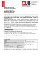 JUBIN Metal - tehnički list