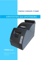 Korisničko uputstvo za TRING EPSON T260F