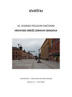 IZVJEŠTAJ - Hrvatska mreža zdravih gradova