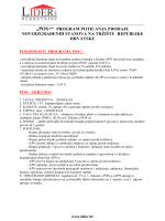 informacije o POS + programu