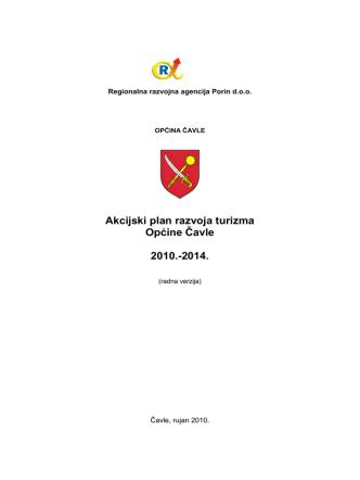 Akcijski plan razvoja turizma Općine Čavle 2010.-2014.