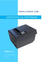 Korisničko uputstvo za TRING EPSON T200