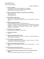 Evidencija radnog vremena- dokumentacija za nadmetanje