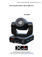 Moving head MAXY Spot HMI-575 Korisnicka uputstva PLA002