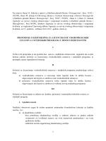 preporuke o kriterijima za licenciranje visokoškolskih