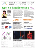 Repertoar kazališne sezone - Dječje kazalište Branka Mihaljevića